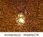 retro woven brown thread... | Shutterstock . vector #506846278