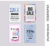 sale website banners design set.... | Shutterstock .eps vector #506846965