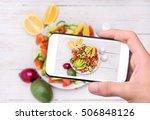 hands taking photo... | Shutterstock . vector #506848126