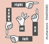 hand sign with pointing finger... | Shutterstock .eps vector #506850082