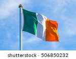 Irish Flag Waving In The Wind...