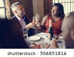 restaurant chilling out classy... | Shutterstock . vector #506851816