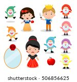 snow white and the seven dwarfs ... | Shutterstock .eps vector #506856625