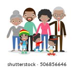 big family africa on white... | Shutterstock .eps vector #506856646
