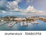port in bermuda island with... | Shutterstock . vector #506861956