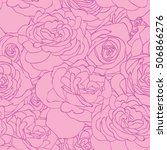 Rose Pink Pattern. Floral...