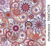 seamless pattern in ethnic... | Shutterstock .eps vector #506876278