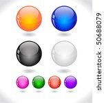 glossy colorful abstract glass... | Shutterstock .eps vector #50688079