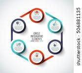 vector circle infographic.... | Shutterstock .eps vector #506881135