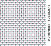 cute pixelated pattern with... | Shutterstock .eps vector #506883646