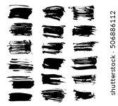 big set of abstract textured...   Shutterstock .eps vector #506886112