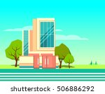 colorful modern flat... | Shutterstock .eps vector #506886292