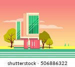 colorful modern flat... | Shutterstock .eps vector #506886322