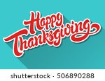happy thanksgiving hand drawn... | Shutterstock .eps vector #506890288