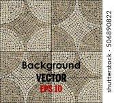 vector mosaic texture. | Shutterstock .eps vector #506890822