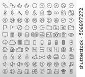 general icons set vector...   Shutterstock .eps vector #506897272