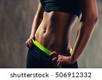 young sports sexy woman... | Shutterstock . vector #506912332