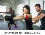 high intensity energy cardio... | Shutterstock . vector #506923792