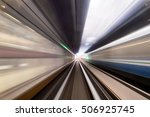 speed motion in urban highway... | Shutterstock . vector #506925745