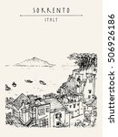 sorrento  italy  europe. above... | Shutterstock .eps vector #506926186