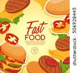 fast food elements   vector... | Shutterstock .eps vector #506928445