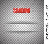 illustration of shadow for... | Shutterstock . vector #506940445