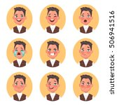set of children's boy avatars... | Shutterstock .eps vector #506941516