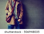 men's casual outfits standing... | Shutterstock . vector #506948035