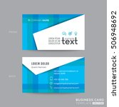 blue modern business card design | Shutterstock .eps vector #506948692