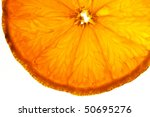 Sliced Orange Fruits In Detail