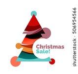 christmas banner design with...   Shutterstock .eps vector #506954566