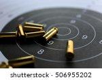bullets on paper target for... | Shutterstock . vector #506955202