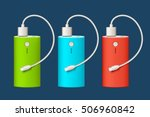 power bank set 2 | Shutterstock .eps vector #506960842