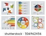 collection of 6 design colorful ... | Shutterstock .eps vector #506962456