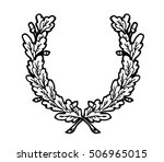 laurel wreath branches set.... | Shutterstock .eps vector #506965015