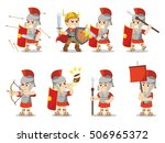 Roman Soldier Set Illustration...