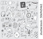 collection of music signs | Shutterstock .eps vector #506965462