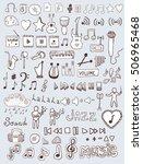 music symbols | Shutterstock .eps vector #506965468