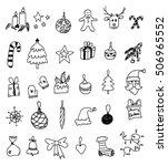 christmas doodles   Shutterstock .eps vector #506965552