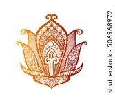 vector ornamental lotus flower  ... | Shutterstock .eps vector #506968972