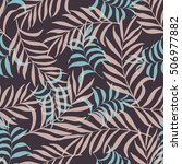 seamless pattern with hand... | Shutterstock .eps vector #506977882