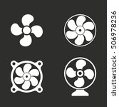 fan vector icon. white... | Shutterstock .eps vector #506978236