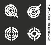 target vector icon. white... | Shutterstock .eps vector #506978242