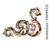 vintage baroque corner scroll... | Shutterstock .eps vector #506985115
