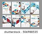 blue business construction... | Shutterstock .eps vector #506988535