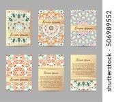 set of flyers  brochures ... | Shutterstock .eps vector #506989552