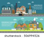 flat banners with industrial...   Shutterstock .eps vector #506994526