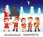 christmas concert. | Shutterstock .eps vector #506995972