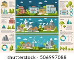 city life infographics with... | Shutterstock .eps vector #506997088