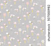 seamless pattern with beautiful ...   Shutterstock .eps vector #507000982
